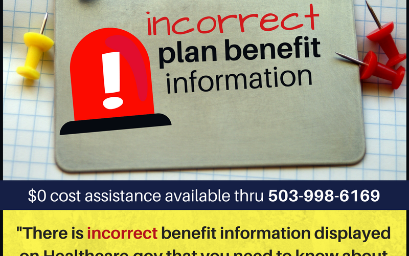 Incorrect Benefit Information In Providence Individual Plans